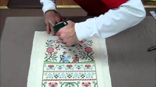 Download How To Frame A Cross Stitch - Demo Of Needlework Framing Video