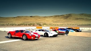 Download 2017 Ford GT vs 05 Ford GT vs Ford GT40 mkII vs #66 Ford GT Le Mans Drag Race | Forza 6 Video