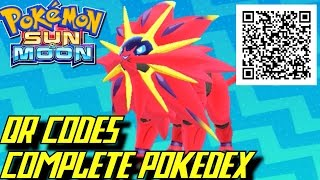 Download Pokémon Sun and Moon - Complete Pokédex (ALL QR Codes & Shinies) Video