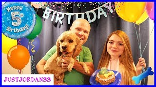 Download Surprise Puppy Dog Party For Logan! / JustJordan33 Video
