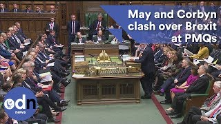 Download Full video: Theresa May and Jeremy Corbyn clash over Brexit at PMQs Video