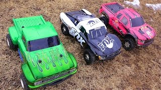 Download RC ADVENTURES - 3 Traxxas Slash 4x4's Cold Bashing! Many broken parts... Video