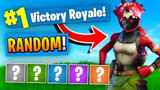 Download The *RANDOM* Outfit Challenge In Fortnite Battle Royale! Video