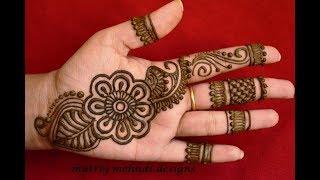 Download Latest Arabic Henna Designs For Hands *Simple Arabic Henna Mehndi Designs*Matroj Mehndi Designs Video