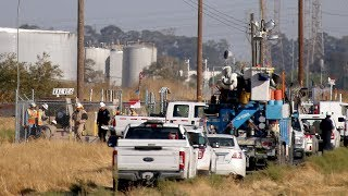 Download Evacuation lifted after Chevron natural gas vault fire Video