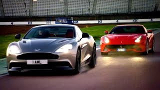 Download Ferrari F12 vs. Aston Martin Vanquish: Head To Head Race - Fifth Gear Video