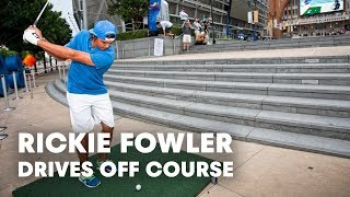 Download PGA TOUR star Rickie Fowler drives off course in Dallas Video