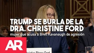 Download Trump se burla de la Dra. Christine Ford. Video