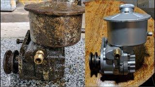 Download AIR COMPRESSOR Pump Restoration Part 2 (CleanUp) - Oil lubrication Pump Restore It Video