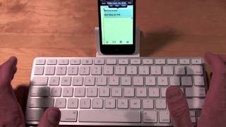 Download Apple iPod Touch 4G working with iPad Keyboard Dock: Demo Video
