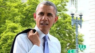 Download Raw Video: The President Takes a Surprise Walk Video