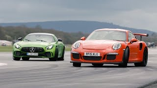 Download Merc-AMG GT R vs 911 GT3 RS vs BMW M4 GTS | Chris Harris Drives | Top Gear Video