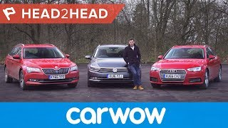 Download Audi A4 Avant vs Volkswagen Passat Estate vs Skoda Superb Estate | Head2Head Video