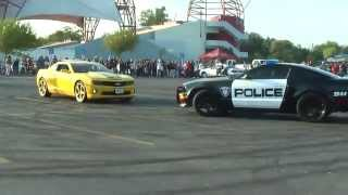 Download Police car join the Drift show Video