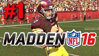 Download Madden 16 Career Mode - Part 1 - Joe Nero's NFL Debut! (Redskins vs Dolphins, Week 1) Video
