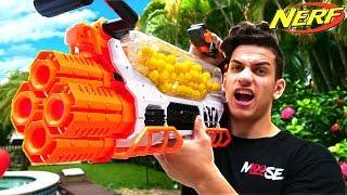 Download NERF WAR : WORLD'S BEST NERF GUN! (300 ROUND NERF MACHINE GUN) Video
