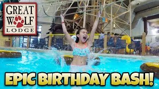 Download DREAM BIRTHDAY AT GREAT WOLF LODGE!!! Indoor Waterpark! This Hotel Has EVERYTHING! Video