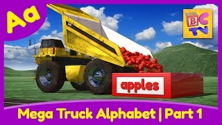 Download Mega Truck Alphabet Part 1 | Learn ABCs with Monster Trucks & Dump Trucks for Kids Video