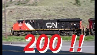 Download Longest Train Ever Seen ~ 200 FREIGHT CARS ! ~ Rocky Mountains ~ CN Canadian National Video
