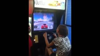 Download My best friend playing a racing game at the movies-3 Video