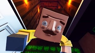 Download Minecraft - HE GOT INTO THE BASEMENT! (Hello Neighbor in Minecraft) Video