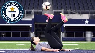 Download Most touches of a football with the soles in one minute (female) - Indi Cowie Guinness World Records Video