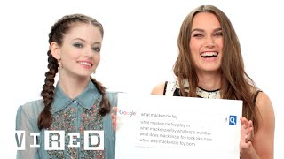 Download Keira Knightley & Mackenzie Foy Answer the Web's Most Searched Questions | WIRED Video
