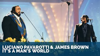 Download Luciano Pavarotti & James Brown - It's a man's world ᴴᴰ Video