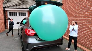 Download Giant Balloon Stuck In Our Car - Surprise Toys For Kids - Shopkins - Disney Toys Video