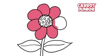 Download How to Draw Flower Super simple drawing for kids Video