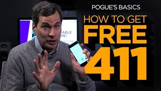 Download Pogue's Basics: How To Get Free 411 Video