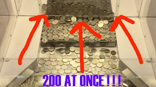 Download Coin Pusher- 200 QUARTERS AT ONCE!!!! ALARM SOUNDED!!! Video