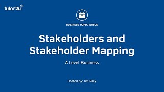 Download Stakeholders and Stakeholder Mapping Video