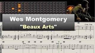 Download Wes Montgomery ″Beaux Arts″ (1961) - jazz guitar solo transcription video by Gilles Rea Video