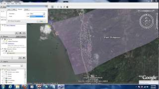 Download measuring area using google earth Video