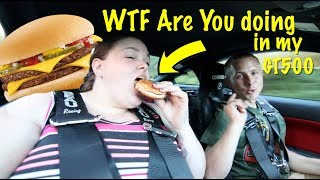 Download Big girl rides in 900hp GT500 for a Cheeseburger Reaction Video
