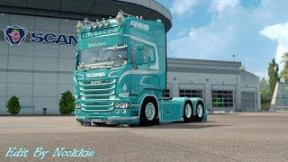 Download Euro Truck Simulator 2 # Scania C.Verbist & son R730 V8 Edit New Skin V1.27 (แต่งรถกันเถอะ # 31 ) Video