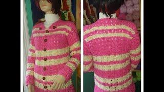 Download Crochet sueter o cardigan rosa parte # 1 - con Ruby Stedman Video