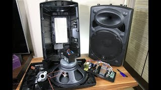 Download Big battery powered QTX 15 inch portable speaker look inside Video