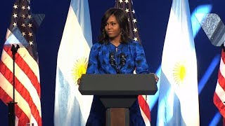 Download Michelle Obama supports #NiUnamenos movement fighting violence against women Video