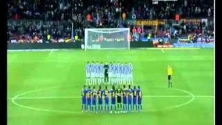 Download علم مصر فى الكامب نو و برشلونة تقف دقيقة حداد Video