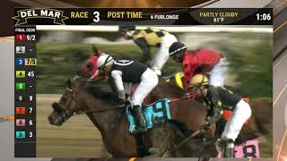 Download Riding With Dino wins race 3 at Del Mar 11/30/19 Video