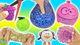 Download Cutting Open Squishy Grapes Toy! Homemade Stress Balls! Gold Star Slime Mesh Ball Doctor Squish Video