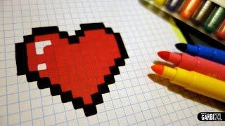 Download Handmade Pixel Art - How To Draw a Kawaii Heart #pixelart Video