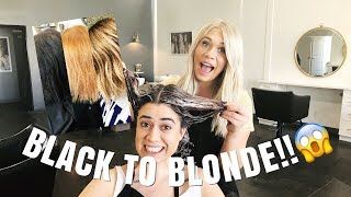 Download KIM K TRANSFORMATION | black to blonde in one day! Video