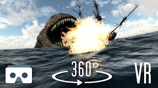 Download 360 Virtual Reality Sea Monsters and Dragons: scary 360 3D VR video Video