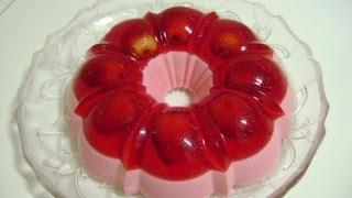 Download Pudim de gelatina com morango natural Video