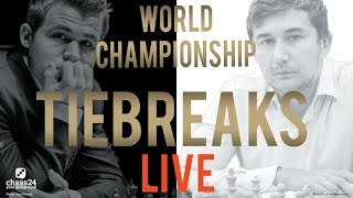 Download Carlsen - Karjakin Tiebreaks World Chess Championship 2016 Livestream Video