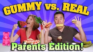Download GUMMY FOOD vs. REAL FOOD CHALLENGE Parents Edition!!! Video