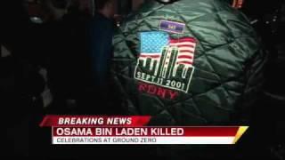 Download Osama Bin Laden Dead 2011: Ground Zero Crowds Cheer All Night Video